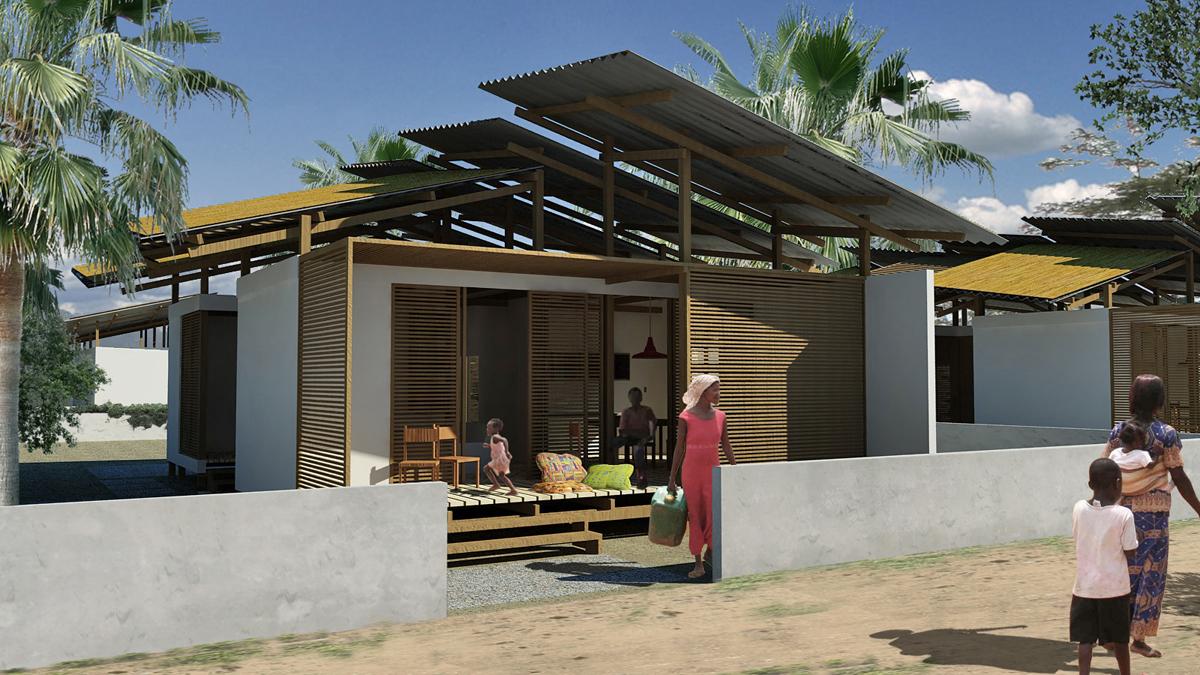 OSH Ghana - Vista dell'edificio dal percorso pedonale - Tommaso Vecci