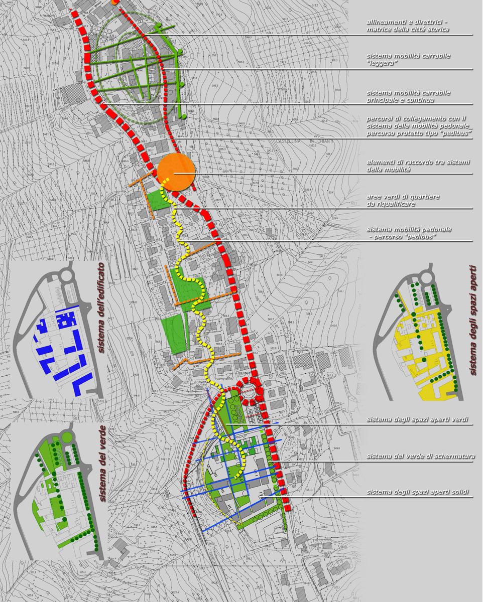 Ex mangimificio - Ideogramma di progetto e individuazione dei sistemi urbani - Tommaso Vecci