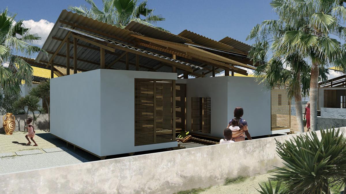 OSH Ghana - Vista dell'edificio dal giardino tergale - Tommaso Vecci