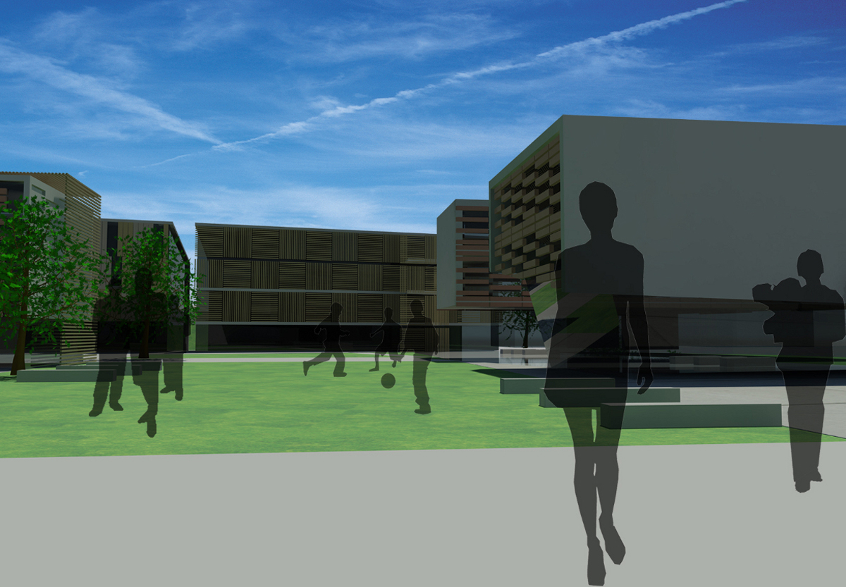 Ex mangimificio - Vista degli edifici dal percorso centrale - Tommaso Vecci