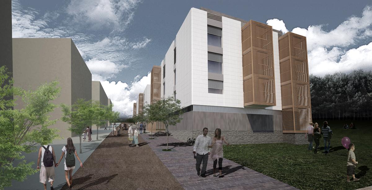Lausanne - Vista prospettica del nuovo insediamento residenziale - Tommaso Vecci