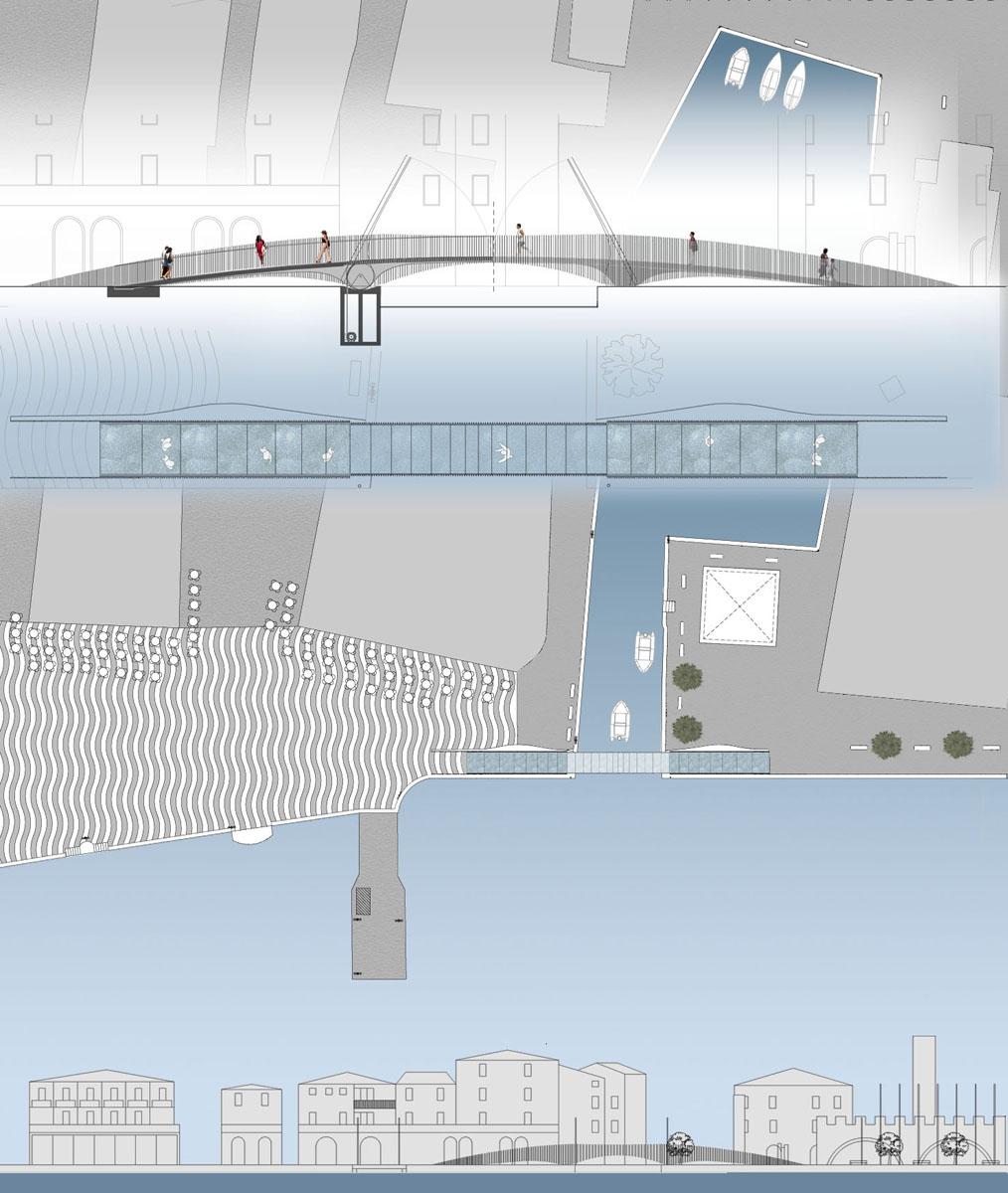 Ponte Lazise - Elaborazioni grafiche del nuovo ponte mobile - Tommaso Vecci