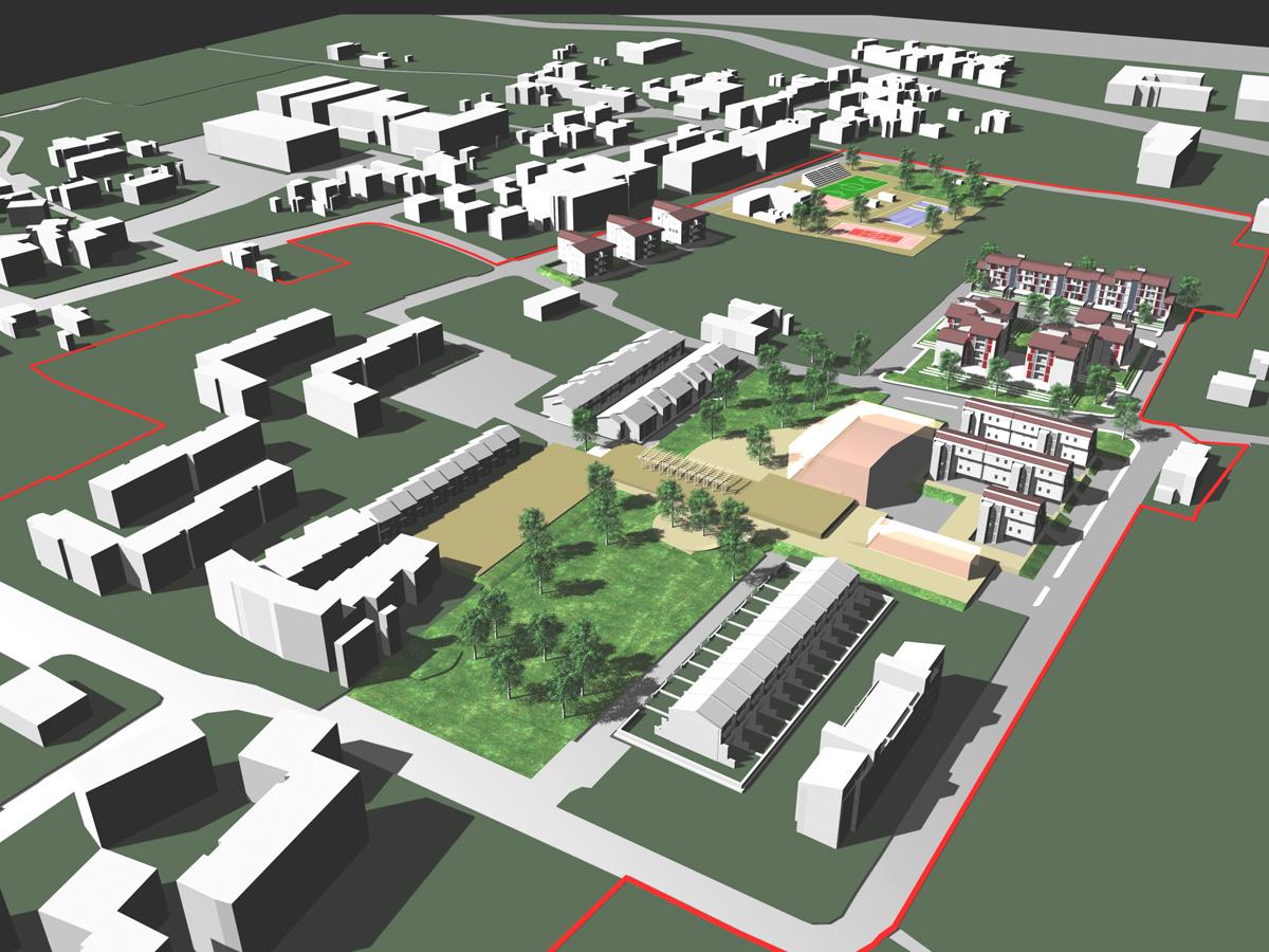 ERP Lucca - Vista tridimensionale dell'intervento urbanistico - Tommaso Vecci