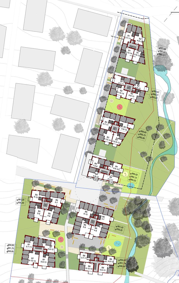 Lausanne - Elaborati grafici con rappresentazione delle planimetrie degli appartamenti - Tommaso Vecci