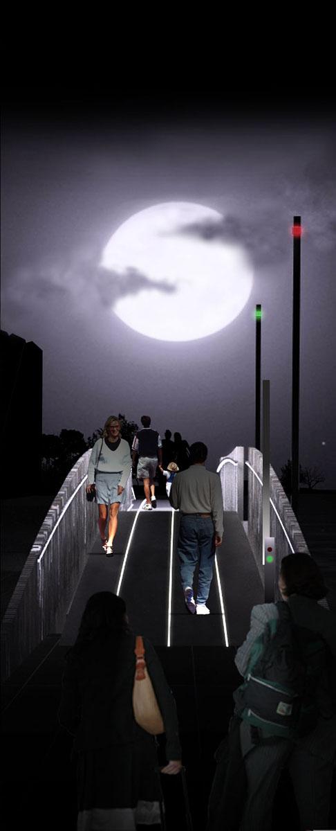 Ponte Lazise - Vista notturna del ponte pedociclabile - Tommaso Vecci