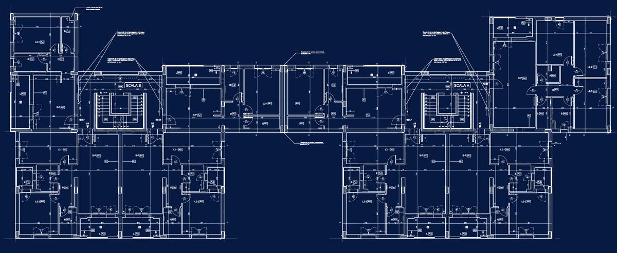 ERP Lucca - Progetto esecutivo: planimetrie di dettaglio del piano tipo - Tommaso Vecci