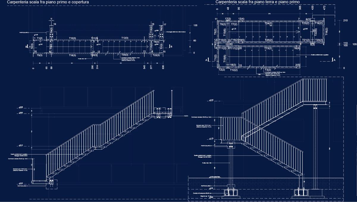 Stazione meteo Treviso - Progetto esecutivo della carpenteria metallica - Tommaso Vecci