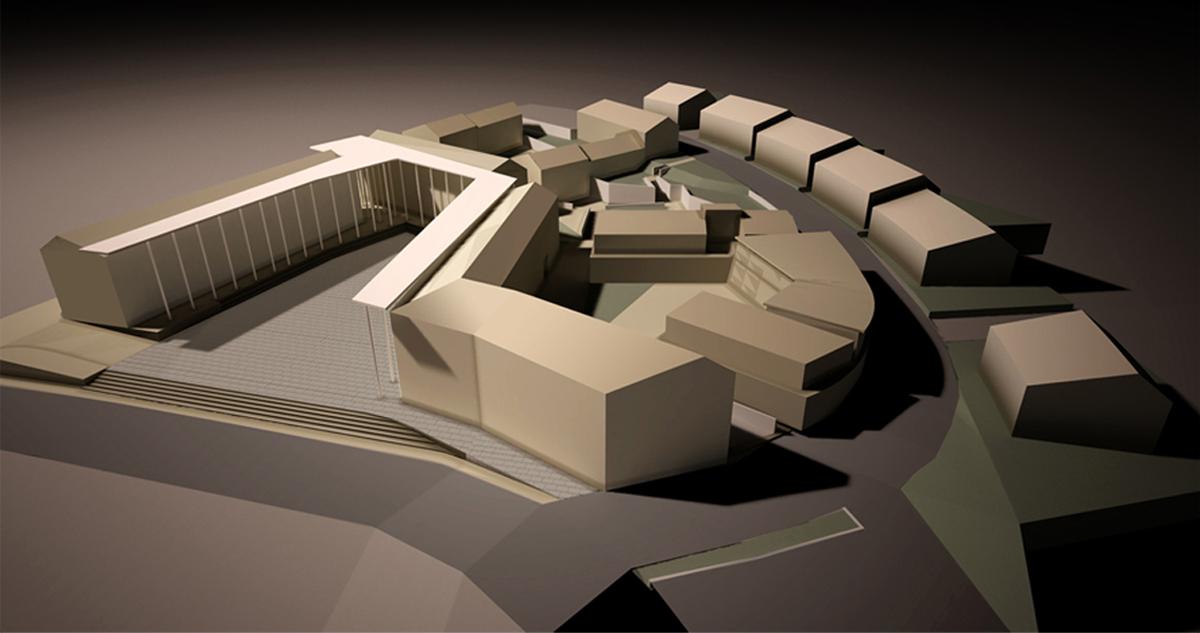 Piossasco - Vista tridimensionale del nuovo insediamento nell'area RTC - Tommaso Vecci
