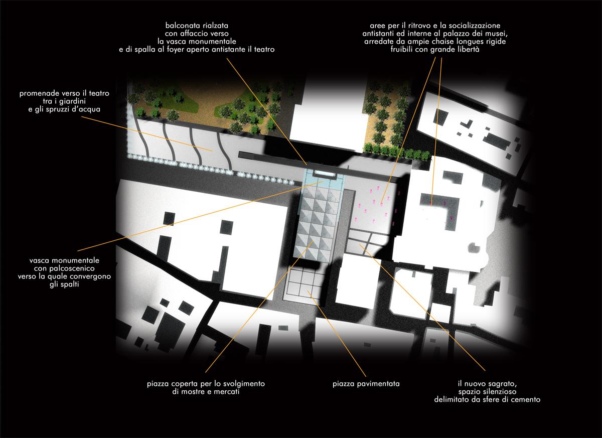 Reggio Emilia - Dettaglio dei nuovi spazi aperti di progetto - Tommaso Vecci