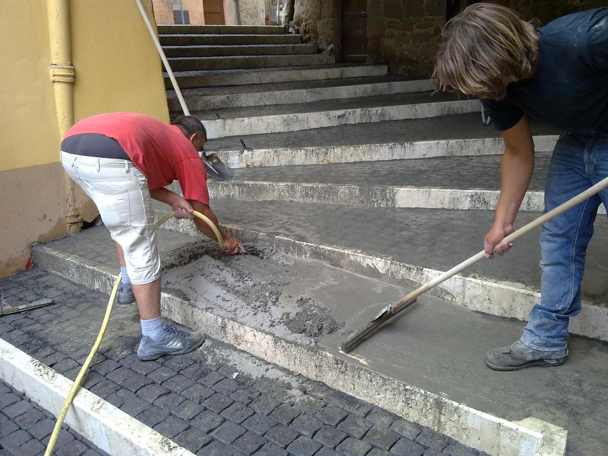 Via di Pianiano, realizzazione della scalinata - Tommaso Vecci