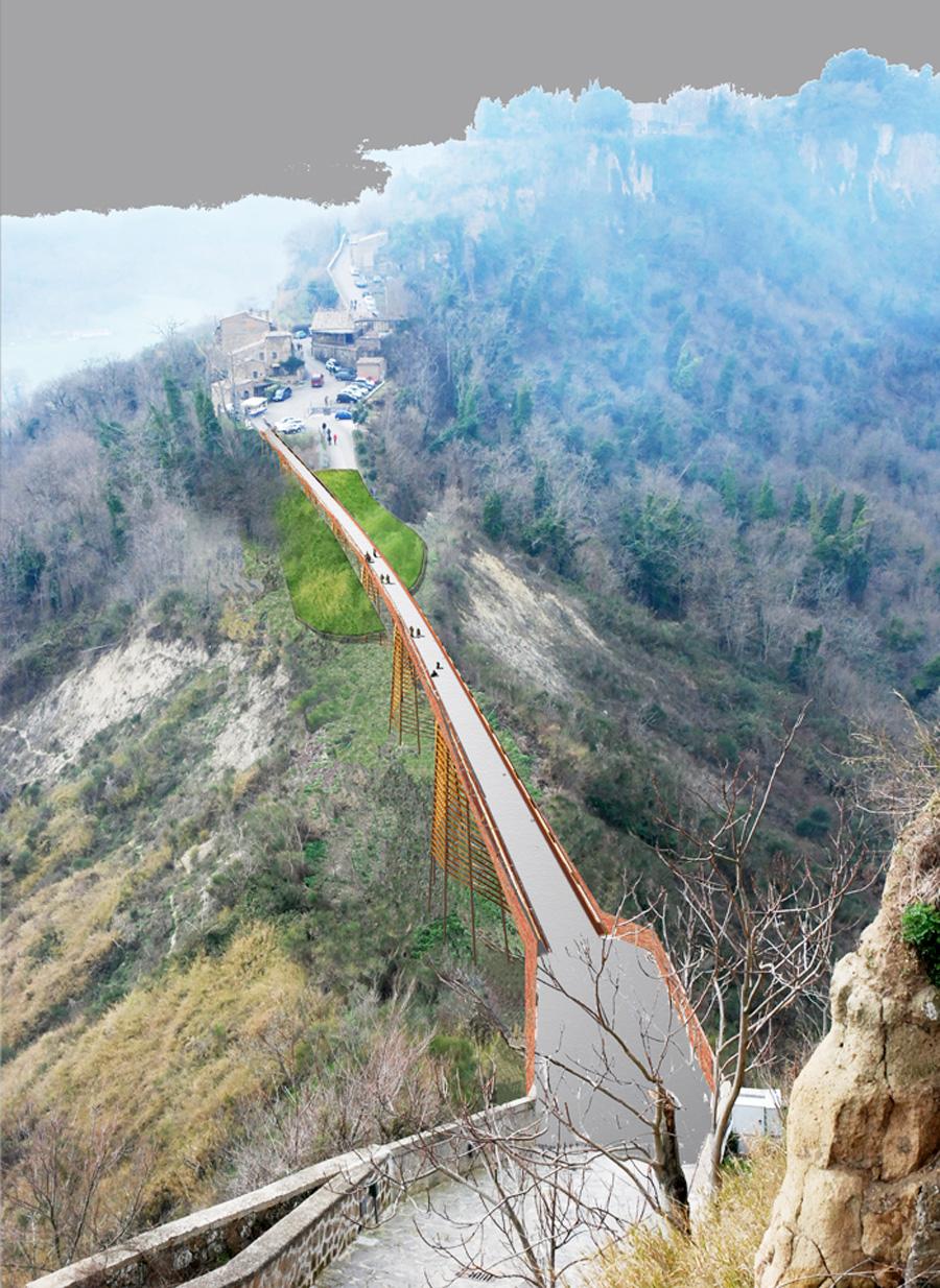 Civita – Vista dall'alto del nuovo accesso - Tommaso Vecci