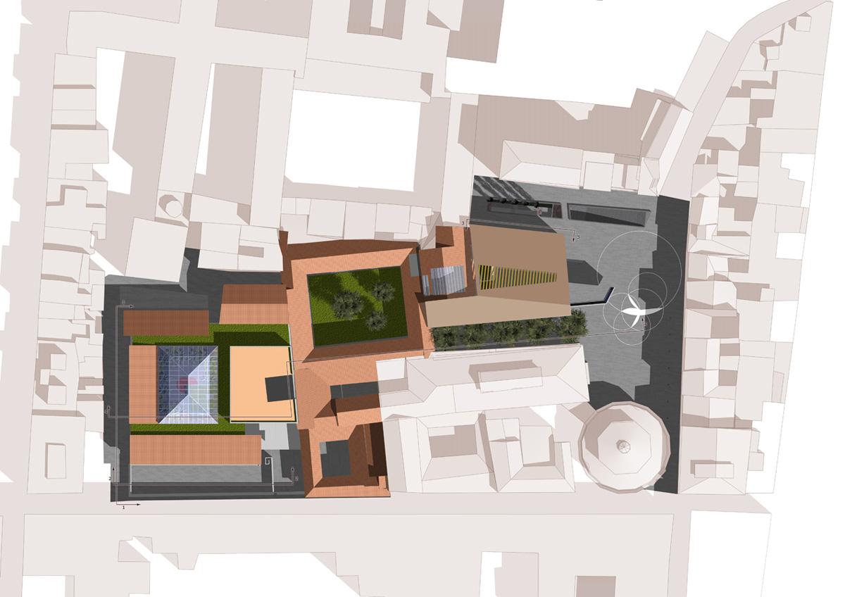 Piazza Brunelleschi - Planimetria dell'area di intervento - Tommaso Vecci