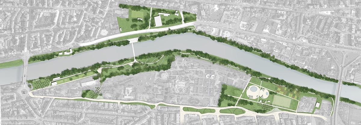 Masterplan Firenze sud – Foto aerea con proposta di progetto - Tommaso Vecci