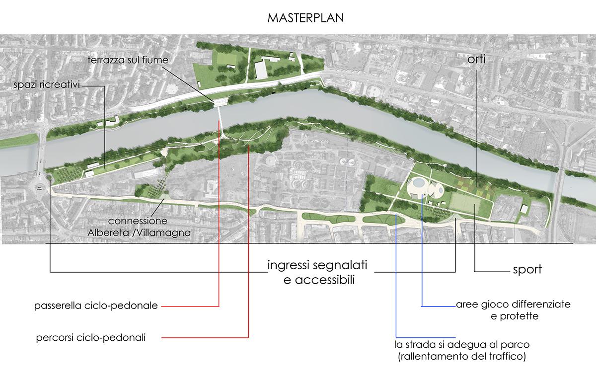 Masterplan Firenze sud - Proposta complessiva con indicazione delle funzioni - Tommaso Vecci