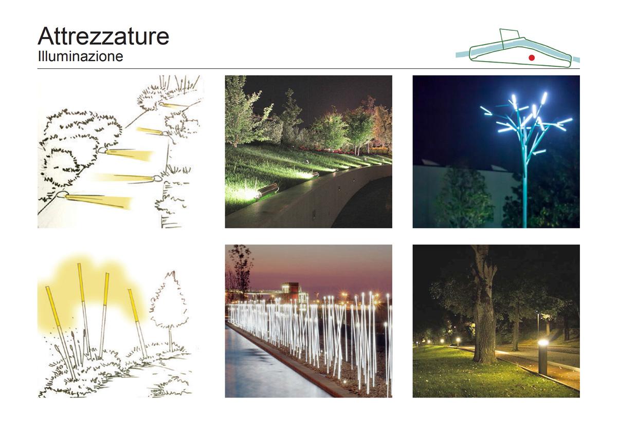 Masterplan Firenze sud – Schizzi e proposte per l'illuminazione dei percorsi - Tommaso Vecci