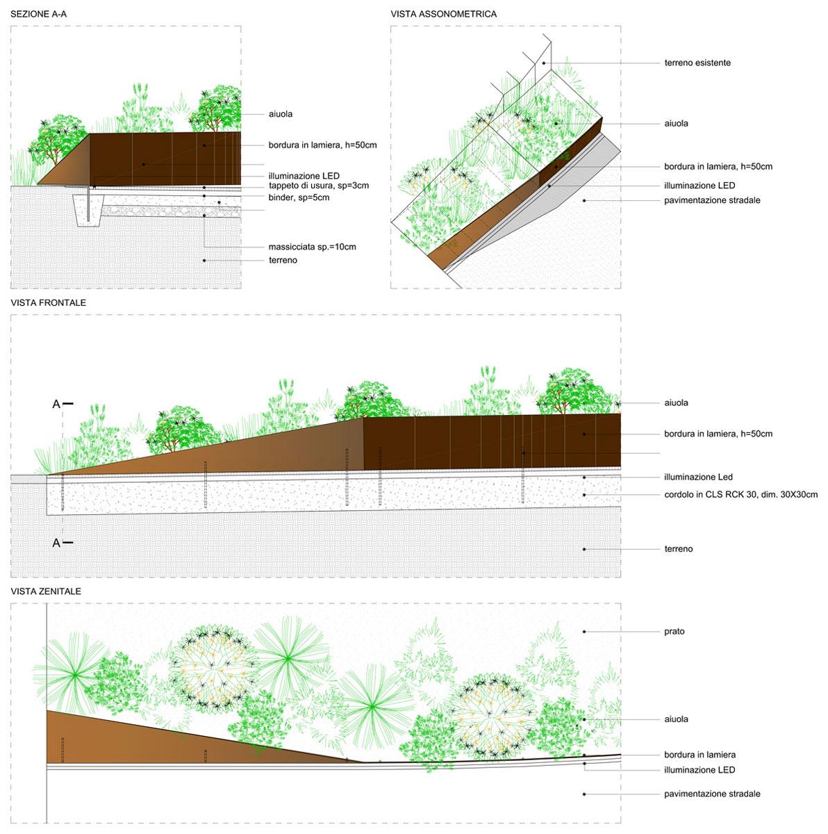 Capolinea Cellere - Viste e particolari costruttivi del progetto esecutivo - Tommaso Vecci