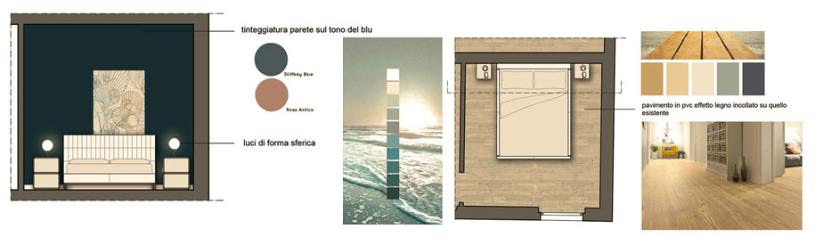 Un restyling nel Comune di Pontassieve - camera matrimoniale - Tommaso Vecci architetto - Firenze