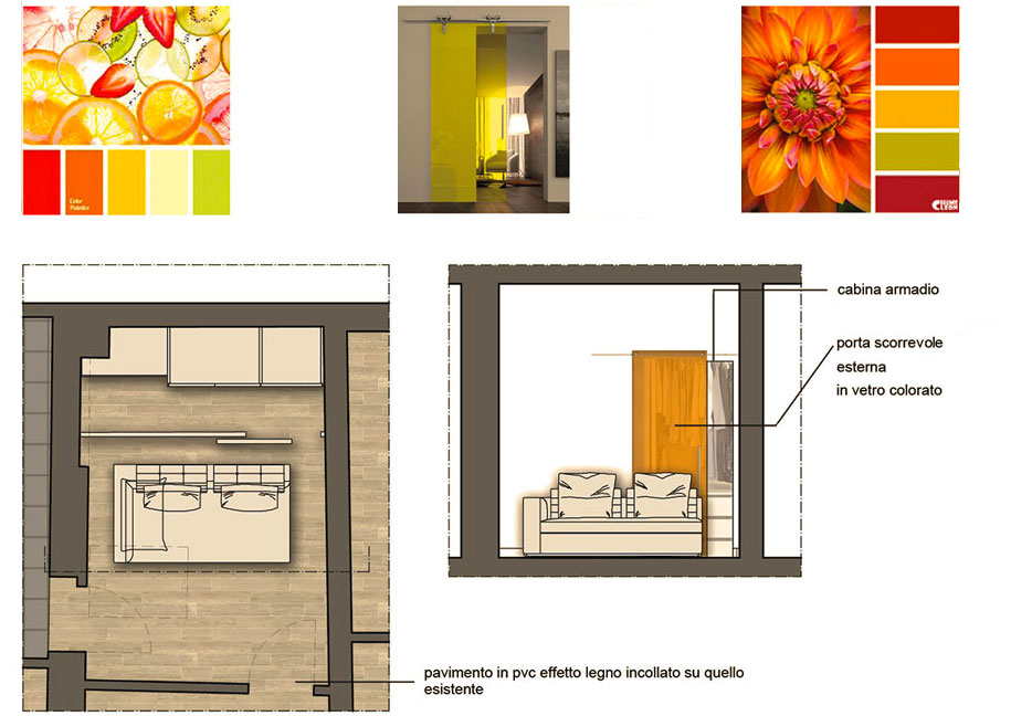 Un restyling nel Comune di Pontassieve - camera studio - Tommaso Vecci architetto - Firenze