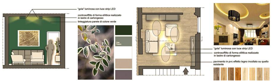 Un restyling nel Comune di Pontassieve - soggiorno - Tommaso Vecci architetto - Firenze